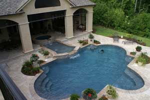 Concrete Deck and Custom Inground Pool